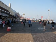 the view down the Seaside Heights' boardwalk midway